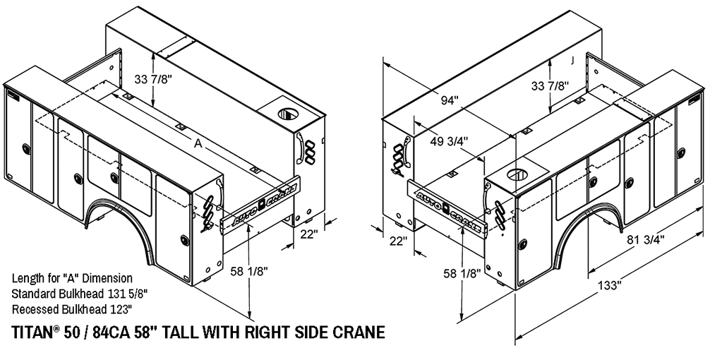 Auto Crane Auto Crane Titan Crane Body Titan 50 Titan 50